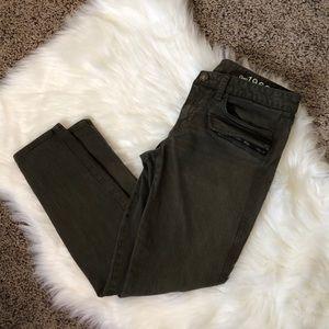 Gap Always Always Skinny Olive Green Pants Size 28